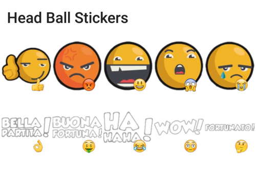Head Ball Game Stickers